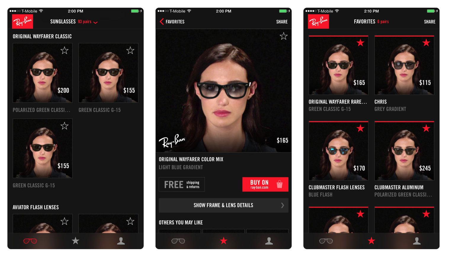 Ray ban virtual try on glasses app