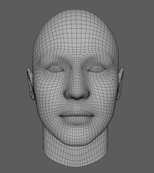 Banuba 3D Mesh Model_head