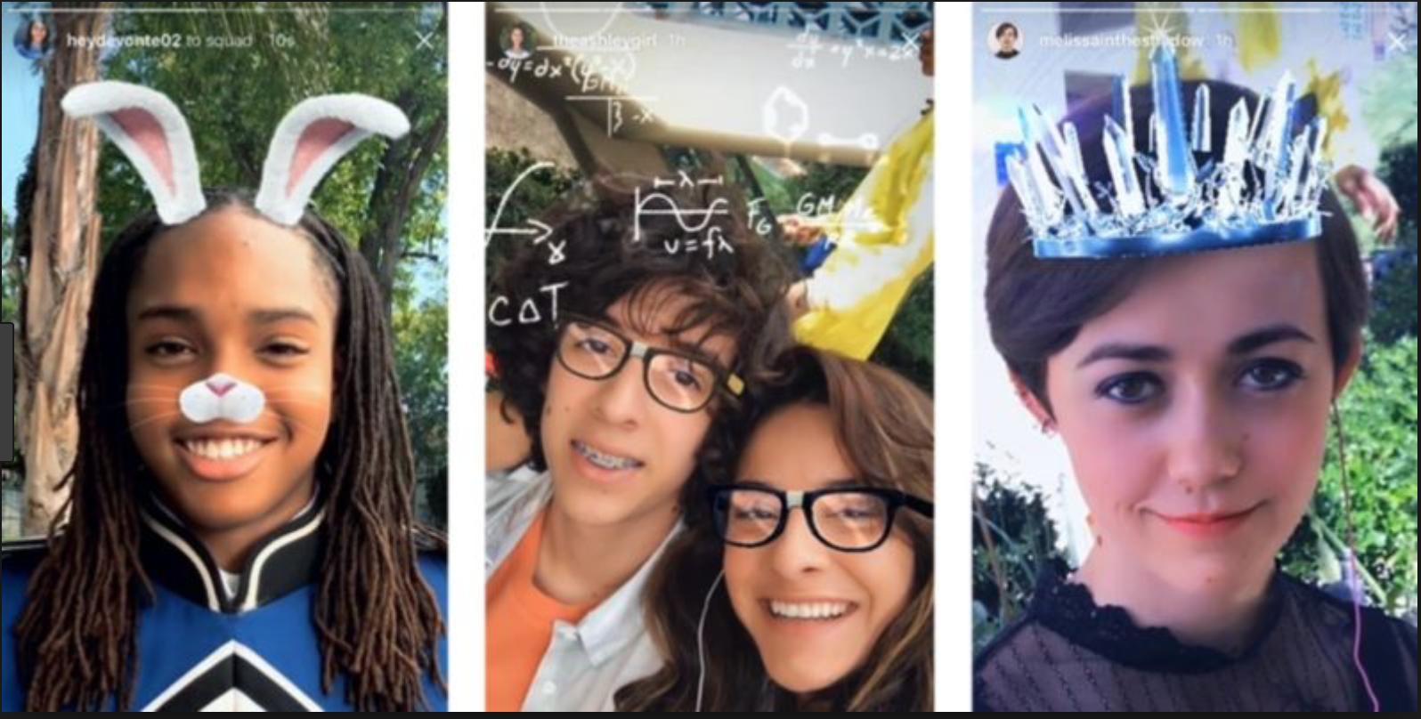 Instagram camera face filters